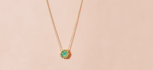 MALKA NECKLACE - TURQUOISE COVERED WITH GOLD FOIL