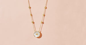 SANJA LONG NECKLACE - MOONSTONE