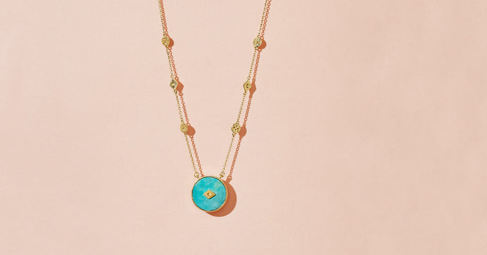 SANJA LONG NECKLACE - TURQUOISE