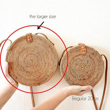 Apollo Roundie XL, Rattan Bag - twobakedbuns