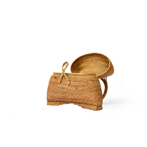 Gaia Ata Pillow Handbag, Rattan Bag - twobakedbuns