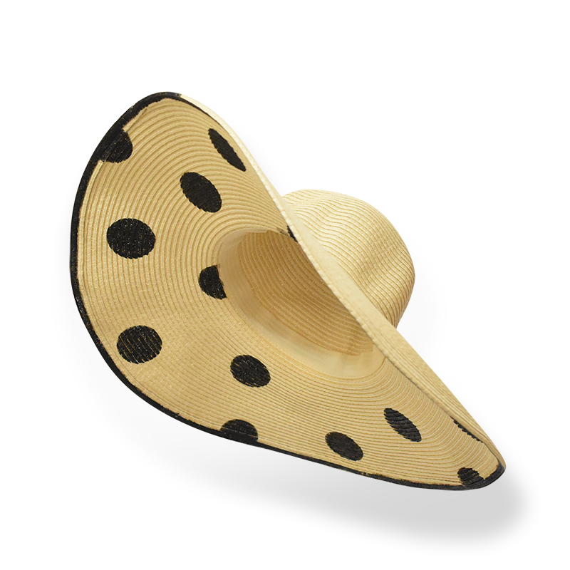 Day Off Polka Floppy, Adult Women's Hat - twobakedbuns