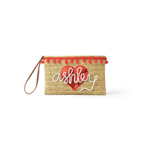 Yours Truly Essentials Pouch, Straw Pouch - twobakedbuns