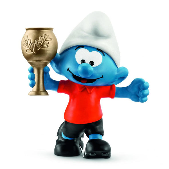 2018 Football Smurf with Trophy 20807