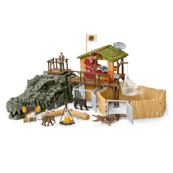 Schleich 42350 Croco Jungle Research Station Playset