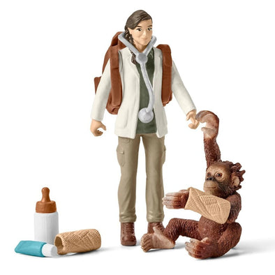 Schleich 42353 Jungle Vet at Work with Orang-utan