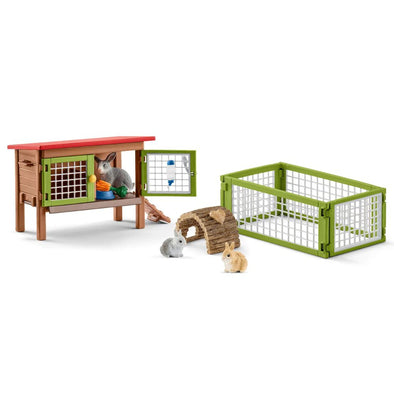 Schleich 42420 Rabbit Hutch Bunnies