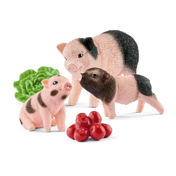Schleich 42422 Mini Pig with Piglets Farm World