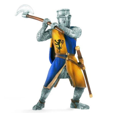 Schleich Knights 70003 Foot-Soldier with Battleaxe - Blue