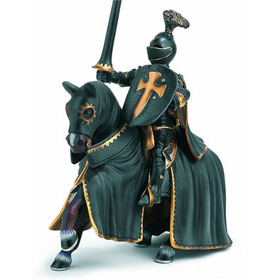 Schleich 70032 Black Knight on Horse