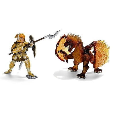 Schleich 72020 Special Edition Dragon Slayer with Fire Dragon