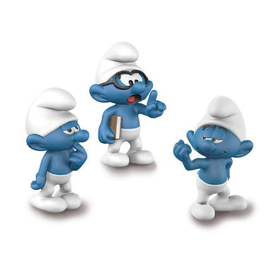 20800 The Lost Village Smurfs Clumsy Brainy Hefty Smurf