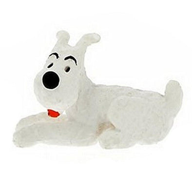 Tintin Snowy Lying PVC toy figure 42431