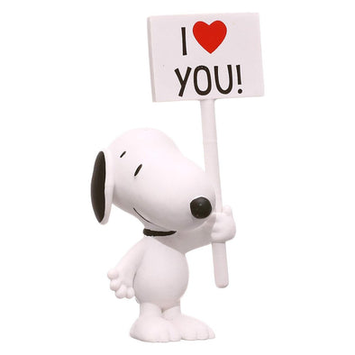 Schleich Peanuts Snoopy Love Sign