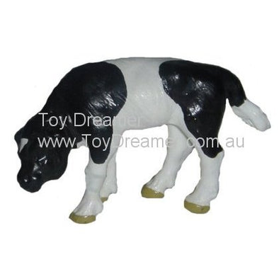 Schleich 13111 Black and White Calf, head down (with Tag!)