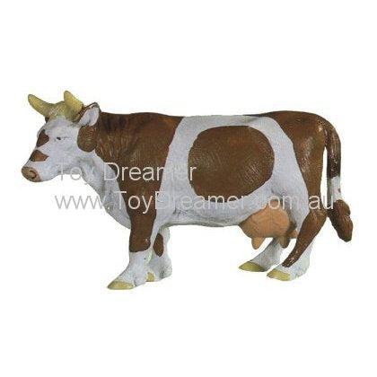 Schleich 13213 Brown & White Cow, standing