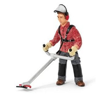 Schleich 13458 Worker with Brush Cutter