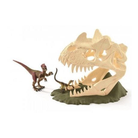 Schleich 42348 Large Skull Trap with Velociraptor Set
