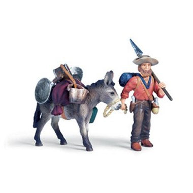 Schleich 70310 Gold Prospector with Donkey