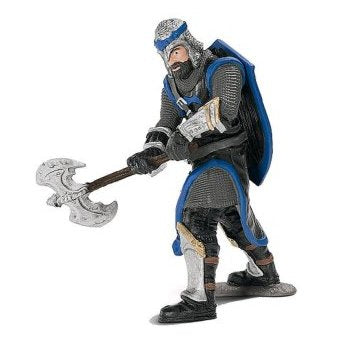 Schleich 72030 Dragon Knight Blue with Battle Axe