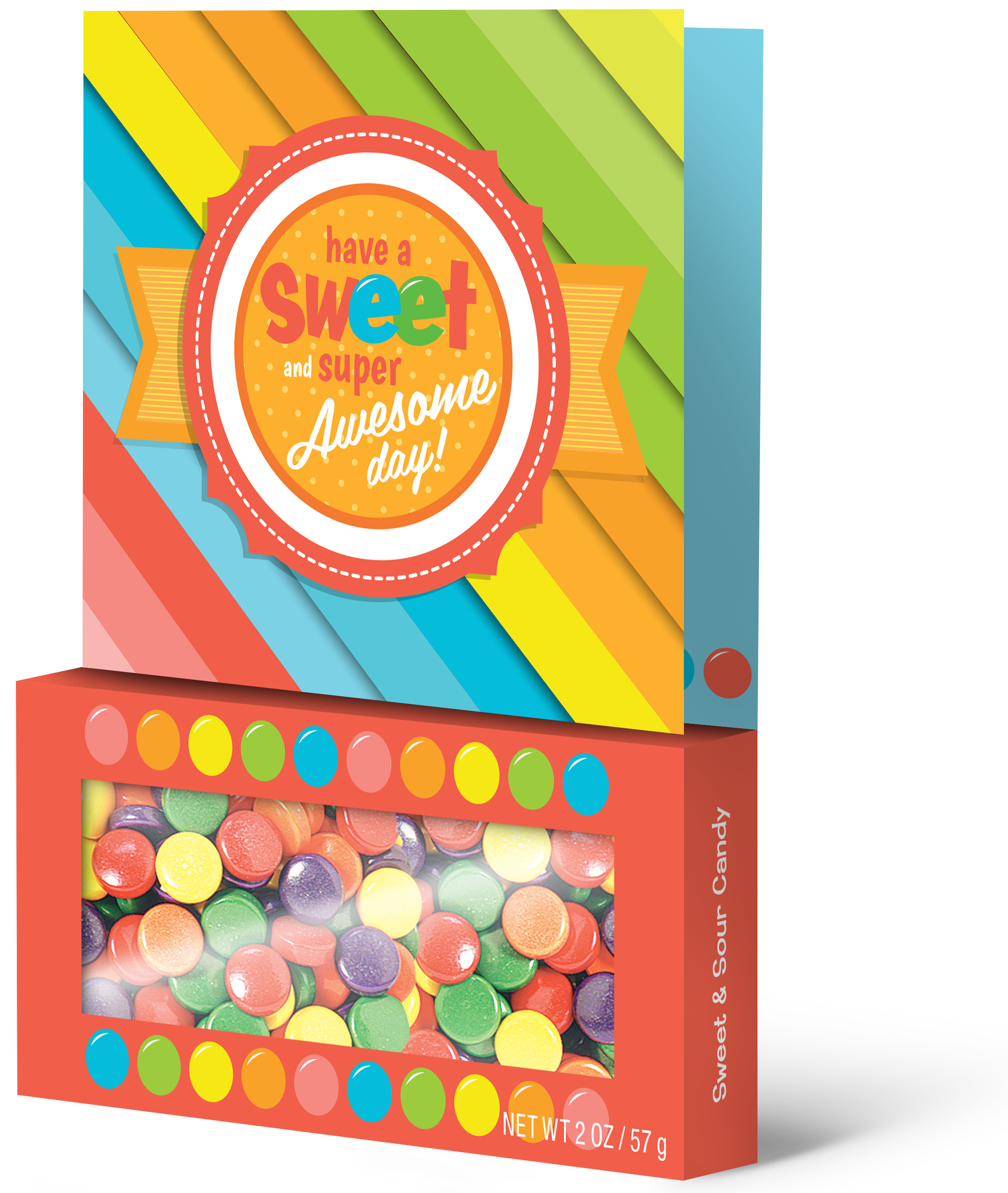 Candy Filled Greeting Cards Sweet Super Awesome Treeting Card