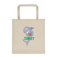 Sweet Shark Cotton Canvas Tote Bag 12 oz