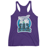 S.O.S. Save Our Sharks Ladies Tri-blend Tank