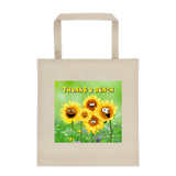 Bunches of Thanks Cotton Canvas Tote Bag 12 oz