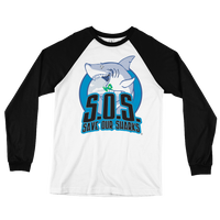 S.O.S. Save Our Sharks Unisex Cotton L/S Baseball Tee