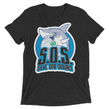S.O.S. Save Our Sharks Unisex Tri-blend S/S Tee