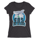 S.O.S Save Our Sharks Ladies Tri-blend S/S Tee