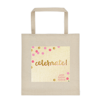 Gold Celebration Cotton Canvas Tote Bag 12 oz
