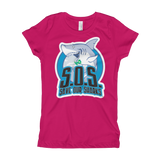 S.O.S Save Our Sharks Girls S/S Tee