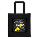 Lemons Tote Bag Cotton Canvas Tote Bag 6 oz