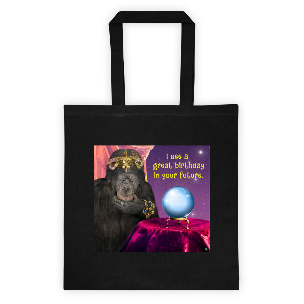 Fortune Teller Cotton Canvas Tote Bag 6 oz