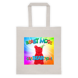 Beast Mode Cotton Canvas Tote Bag 6 oz