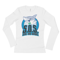 S.O.S. Save Our Sharks Ladies Cotton L/S Tee