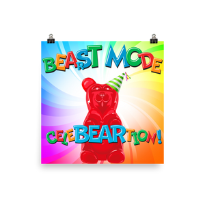 Beast Mode Photo Paper Poster