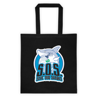S.O.S. Save Our Sharks Cotton Canvas Tote Bag 6 oz