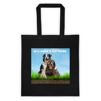 Best Friends Cotton Canvas Tote Bag 6 oz
