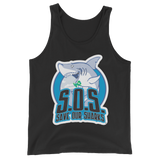 S.O.S Save Our Sharks Unisex Cotton / Tri-blend Tank