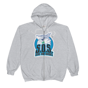 S.O.S Save Our Sharks Unisex Zip Hoodie