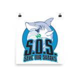 S.O.S. Save Our Sharks Photo Paper Poster