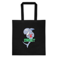 Sweet Shark Cotton Canvas Tote Bag 6 oz