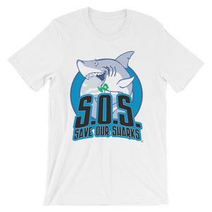 S.O.S. Save Our Sharks Unisex Cotton S/S Tee