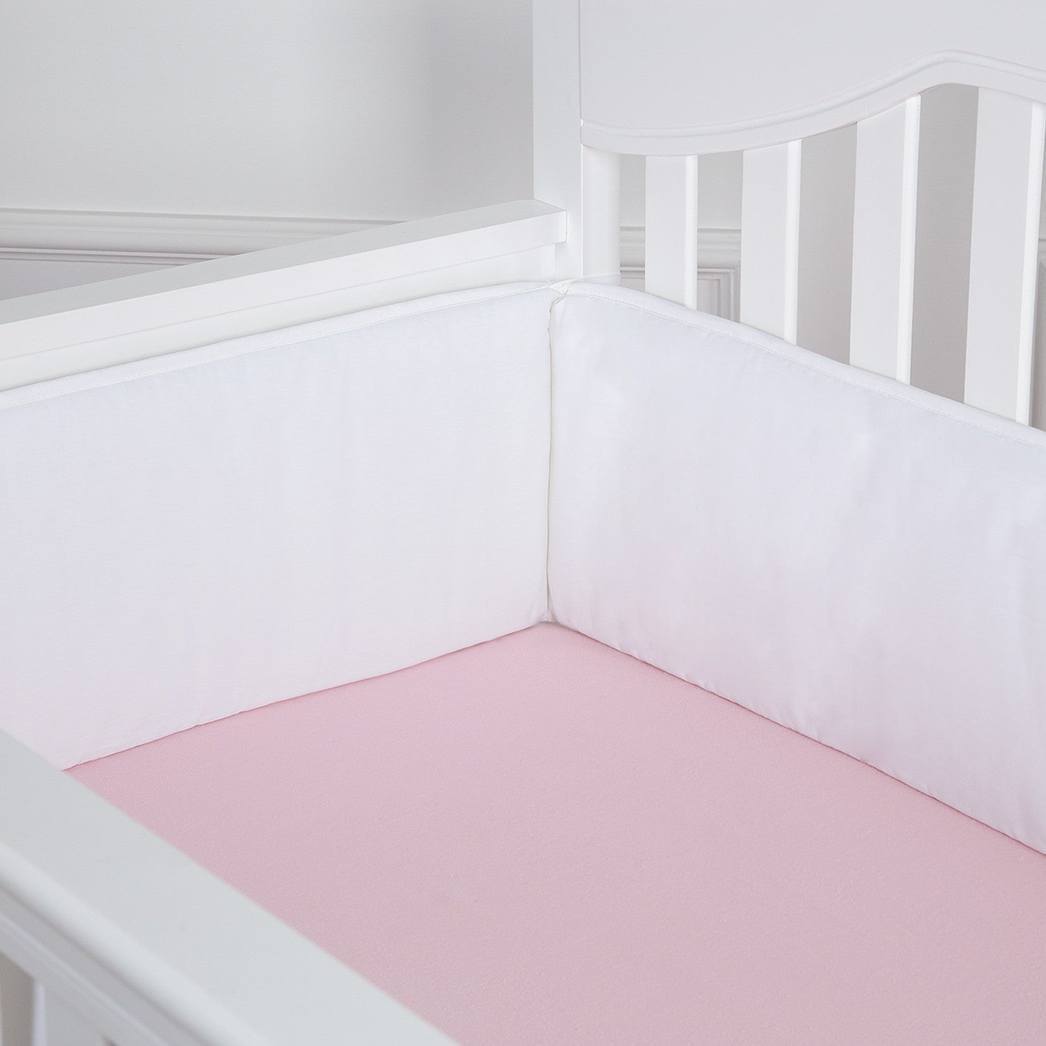 OUT OF STOCK - Whole Piece Crib Bumper - White