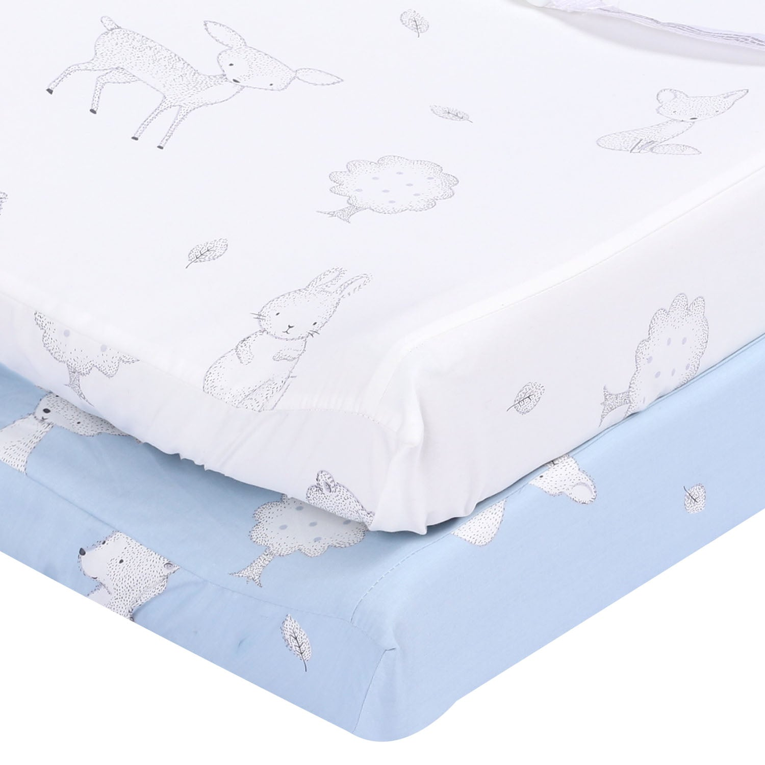 "Quilted Baby Blanket 39""x39"" - Light Blue"