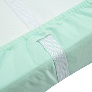 Jersey Knit Thick Changing Pad Cover Set - Peachy Pink & Lt Green & Lt Gray