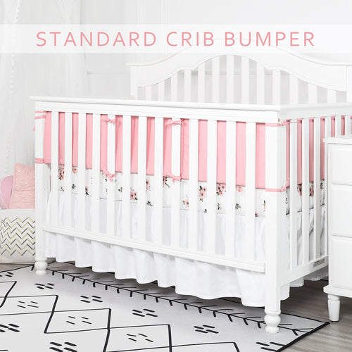 1-Piece Cotton Breathable Mini Crib Bumper - Lt Pink