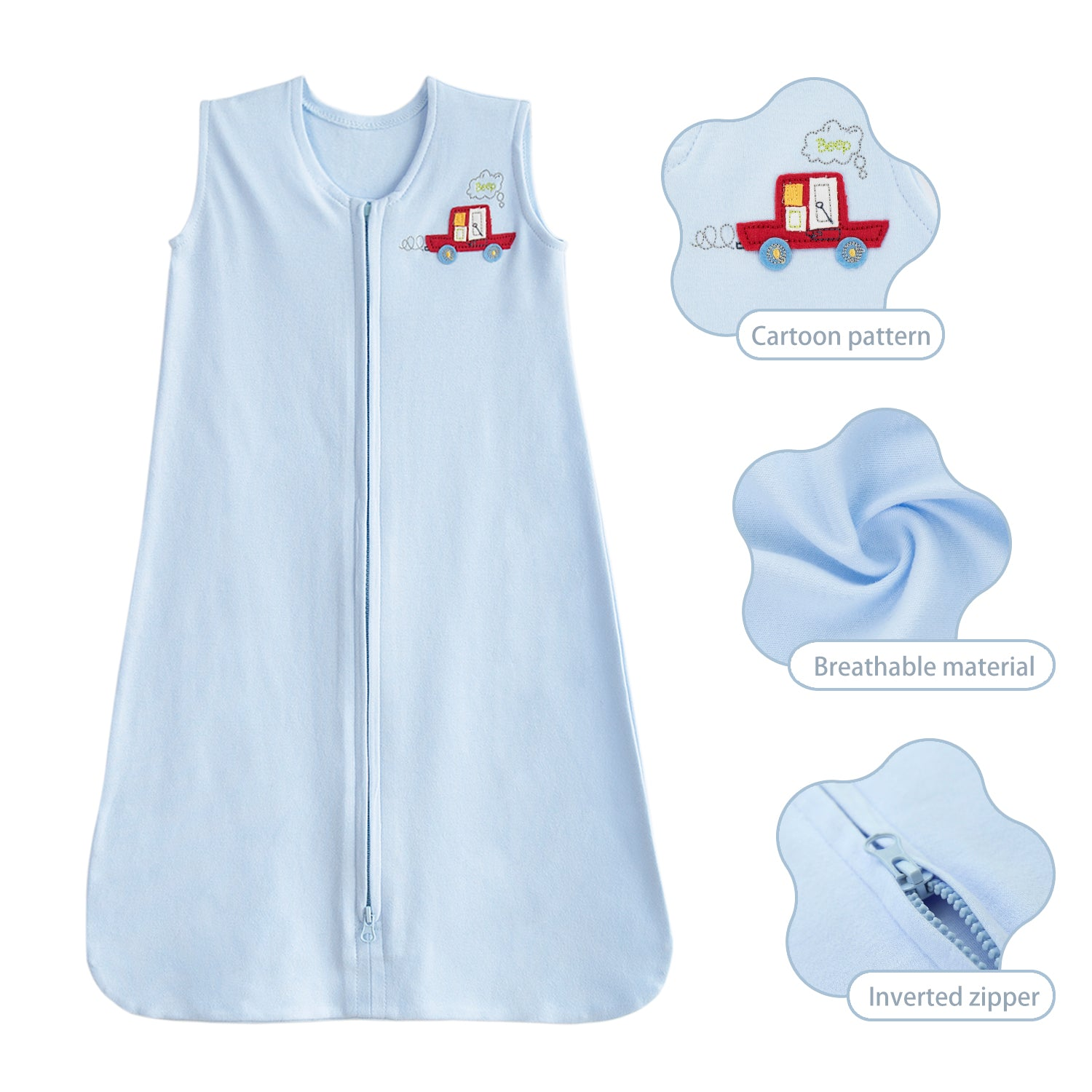 OUT OF STOCK - Cotton Jersey Baby Sleeping Bag for 0-6 / 6-12 Months